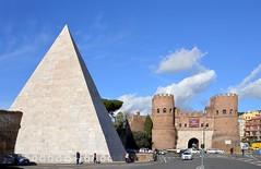 Piramide di Caio Cestio e Porta San Paolo (giorgiorodano46) Tags: roma gate pyramid porta walls february piramide nikonclubit febbraio2016 giorgiorodano muraaurealiane