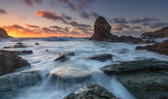 'Porth Saint Seascape' - Rhoscolyn, Anglesey (Kristofer Williams) Tags: longexposure sunset sea seascape beach water rock wales landscape evening coast waves outdoor seastack geological anglesey rhoscolyn stgwenfaen porthsaint