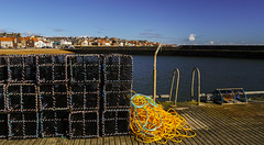 Creels . (Keith (foggybummer)) Tags: sea yellow harbour fife rope coastline anstruther quayside creels