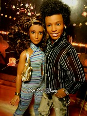 Lacretia and her boo Steven (krixxxmonroe) Tags: up photography doll ryan d ooak curvy monroe denim steven ira aa styling dolled krixx