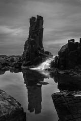 Bombo reflection and waterfall || Kiama (David Marriott - Sydney) Tags: cloud reflection rock dawn waterfall au australia newsouthwales kiama bombo