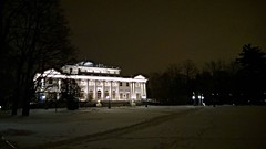 Вчера в ЦПКиО еще была зима... #зима #петербург #citylights #winter #snow #night #saintpetersburg #russia #palace