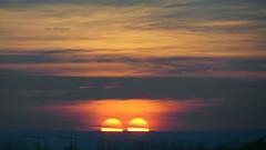 Oct 24, 2015...16:54... I saw two setting Suns.... :-).......( Faves STOP !! ) (ljucsu) Tags: autumn sunset sun october eveningsun doublereflection autumnsunset octobersunset