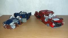 Old Rusted Corvegas (Brickule) Tags: car robot lego scifi fallout apoc robco corvega