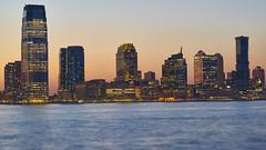 Jersey City Skyline from Battery Park (Roger Martinez Photography) Tags: nikon nikond5300 nikon50mmf18gafs nyc newyorkcity city skyline batterypark park river hudsonriver batteryparkcity hudson ny sunset water sea d5300 dslr jersey jerseycity