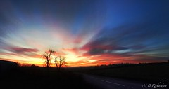 iPhone panoramic sunset (Sasquatchpics) Tags: trees sunset clouds iphone colondonderry