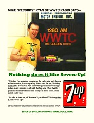 "Mike ""Records"" Ryan for 7-Up (STUDIOZ7) Tags: station minnesota radio bottle dj ad stpaul minneapolis pop retro advertisement nostalgia broadcasting soda twincities oldies mn 7up softdrink broadcaster goldenrock discjockey sevenup mikeryan wwtc michaelpatrickryan recordsryan"