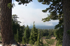 Cluster of wildfires in the Cascade Mountains, Oregon (nikname) Tags: trees oregon cascades craterlake forests forestfires douglasfir stateparks craterlakenationalpark cascademountainrange oregonstateparks usanationalparks stateforests highcascades usanationalforests