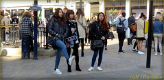 `1610 (roll the dice) Tags: uk girls portrait england people urban sexy london art classic tourism westminster fashion shopping hair underground subway advertising asian funny pretty sad phone traffic post natural legs candid tube chinese entrance strangers streetphotography talk korean wig unknown shops denim bags streetfurniture exit mad oxfordstreet w1 westend unaware topshop londonist