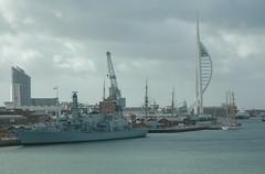 HMS Lancaster (guyfogwill) Tags: france boats portsmouth spinnakertower hmslancaster f229 hants unitedkingdom gbr républiquefrançaise guy fogwill guyfogwill holiday april avril 2012