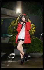 nEO_IMG_DP1U3841 (c0466art) Tags: light portrait girl face rain female night canon photo nice eyes asia long pretty slim legs zoom sweet young taiwan figure lovely cultural  1dx c0466art