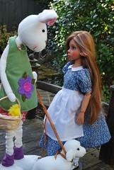 1. A Whimsical Easter Story (Little little mouse) Tags: bjd dollfie easterbunny tansy homemadedress kayewiggs tanlaryssa steifflindalamb