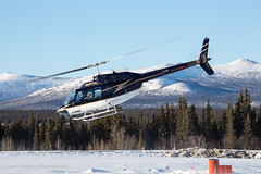 Capital Helicopters (Jason Pineau) Tags: winter mountains chopper ranger bell haines capital north 206 jet junction arctic helicopter yukon helicopters takeoff heli helo 206b cgahf