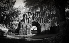 St B 6-1 (danny.rowton) Tags: castle rollei 35mm ruins haunted nikonf2 essex colchester priory stbotolphs infraredfilm