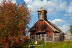 Little Wooden Church, Csind (fesign) Tags: autumn house fall nature horizontal architecture forest landscape outdoors photography countryside day village farm hill nopeople romania transylvania easterneurope peasant rurallife buildingexterior carpathianmountains colourimage csind zvlgye