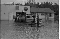 Lake Winnipeg - Flooding, 1966 (vintage.winnipeg) Tags: canada history vintage historic manitoba lakewinnipeg ruralmanitoba