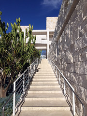 Stairs at Getty Museum (markjelinsky) Tags: california county plants usa stone museum stairs america paul j us los angeles united getty states