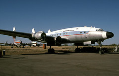 Constellation N749VR 10Oct96 (Peter M Garwood) Tags: arizona us connie lockheed constellation avravalley n749nl conifair cgxkr