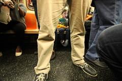 lost sneaker (Venessa Nina) Tags: newyorkcity subway mat transit commuting cutekid lostshoe nyctransit nycmta lostsneaker