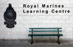 Royal Marines Bench. 99% need not apply (Ray Crabb) Tags: wall bench globe marines laurel commando rn rm 2014 royalnavy royalmarines ctcrm bootneck globelaurel