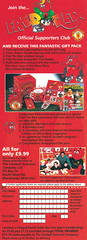 Manchester United - Official Merchandise Catalogue - 1994 - Inset Page 2 (The Sky Strikers) Tags: old red classic manchester souvenirs official united fred merchandise 1994 collectors trafford catalogue the leisurewear