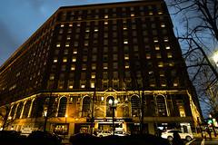 Boston Park Plaza Hotel (joe10491) Tags: color building boston night dark photography lights hotel photo nikon d33 d3300