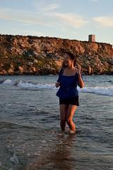 Nazira (lauramramrodr) Tags: sea summer sun seascape beach golden bay sand malta melita mellieha gajn tuffiea