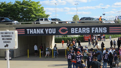 bears vs greenbay. september 2015 (timp37) Tags: chicago sign football illinois you bears nfl sunday september thank fans 2015