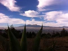 Volcán Xinanecatl desde Parque Sierra Morelos, México