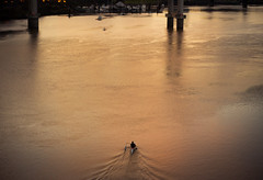 Kayak Sunset (Jonathan Miske) Tags: winter sunset usa seascape oregon canon river portland landscape kayak unitedstates dusk transportation pacificnorthwest willametteriver tamron2875mmf28 canon6d canoneos6d tilikumcrossing tamron2875mmf28xrdildasphericalifa09