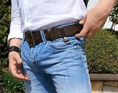 Pol04 (armybelt007) Tags: armband belt polish crotch bulge beltfetish widebelt leatherbelt leatheranddenim wideleatherbelt officerbelt armybelt militarybelt leatherandjeans beltinjeans beltanddenim