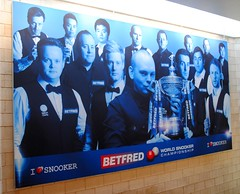 The I Love Snooker Wall (zawtowers) Tags: world above love wall stairs championship afternoon theatre sheffield first round tuesday april session players current snooker 19th crucible 2016 i betfred thehomeofsnooker