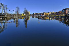 Innover kanalen fra Skansen (GeirSH) Tags: blue norway norge canal skansen trondheim d800 kanalen trondhjem