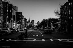 4/13/16 Day 186 (GarrettHerzig) Tags: street city sky urban bw monochrome boston fuji stroller crosswalk 365project x100t fujix100t