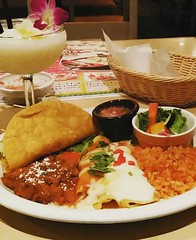 My birthday meal: enchiladas and a pina colada in Yokohama. ❤