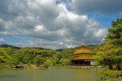 Kinkakuji (, Golden Pavilion) (Windogxx) Tags: trees japan clouds outside golden kyoto pavilion  kinkakuji