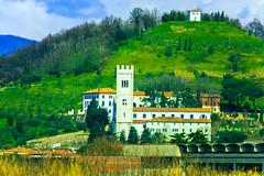 Italy from the train (Arutemu) Tags: travel italien italy castle train landscape europe italia european view eu tuscany toscana chateau       eos6d