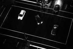 Wait your turn (emrold) Tags: road bw cars lines night montreal fromabove birdseyeview lensblr photographersontumblr xf56mmf12r fujifilmxt1 2016ericdelorme emrold