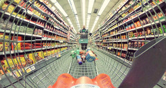 113/366 - consumerism (possessed2fisheye) Tags: selfportrait self shopping trolley fisheye fisheyelens 2016 creativeselfportrait 366 atthesupermarket project366 366project fisheyeselfportrait possessed2fisheye fisheyeireland ricohthetas 366project2016 3662016 project3662016 ricohthetas360camera fisheyeonsteroids pushingatrolley extrawidefisheyelens