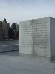 (_Fidelio_) Tags: nyc quote rooseveltisland fdr iphone6
