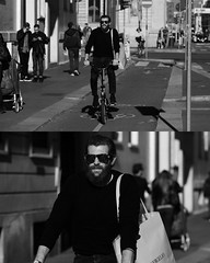 [La Mia Citt][Pedala] (Urca) Tags: portrait blackandwhite bw bike bicycle italia milano bn ciclista biancoenero mir bicicletta 2015 pedalare dittico nikondigitale ritrattostradale 82265