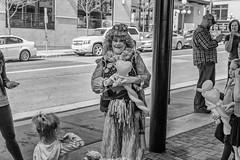 StPaulArtCrawl2016_46317-.jpg (Mully410 * Images) Tags: people blackandwhite cars monochrome balloons clown stpaul sidewalk 2016 artcrawl niksilverefexpro