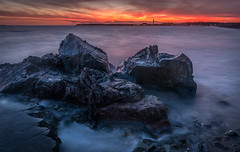 Apocalypse at St. Clements (Tim_Horsfall) Tags: uk sunset sea seaweed beach st canon landscape eos is seaside amazing sand rocks colours tide shore jersey usm clements 6d f4l ef1635mm