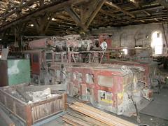 Santa Cruz Portland Cement mine locos in Sacramento Shops (jsmatlak) Tags: railroad museum train engine sp shops locomotive sacramento pca csrm