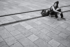 Lines, lines... (fcribari) Tags: street brazil blackandwhite bw monochrome brasil streetphotography skate fujifilm streetphoto recife pretoebranco pernambuco 2016 fotografiaderua x100s