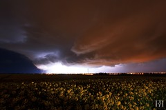 Cold Storm (NeoNature) Tags: sky cloud storm france cold nature field weather hail night canon air curtain champs normandie lightning mass convection nuage normandy nuit froid calvados eclair rideau orage colza grle stormscape