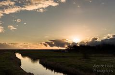DSC_6618_Lr-edit (Alex-de-Haas) Tags: light sunset reflection water netherlands clouds landscape fire licht zonsondergang nederland thenetherlands wolken dyke dijk dike landschap noordholland vuur reflectie petten coastalarea spreeuwendijk kunstgebied