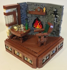 A Warm Hearth (dzambito42) Tags: castle table fire chair fireplace lego hearth legofire