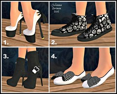 A great pair of shoes can change your life..... (JuliannaSeriman) Tags: free wicked freebie freeshoes secondlifefreebie fabfree fabulouslyfree secondlifehunt demotik freeinsl lindymodernretroshoes juliannaseriman blackandwhitehunt