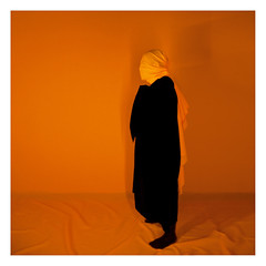 undisclosed (Vasya Gavrilov) Tags: portrait orange art colors photography photo neon shadows uv minimal minimalism conceptual ultraviolet colorlight